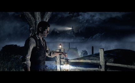 The Evil Within playstation 4 ps4 lighthouse fence lantern