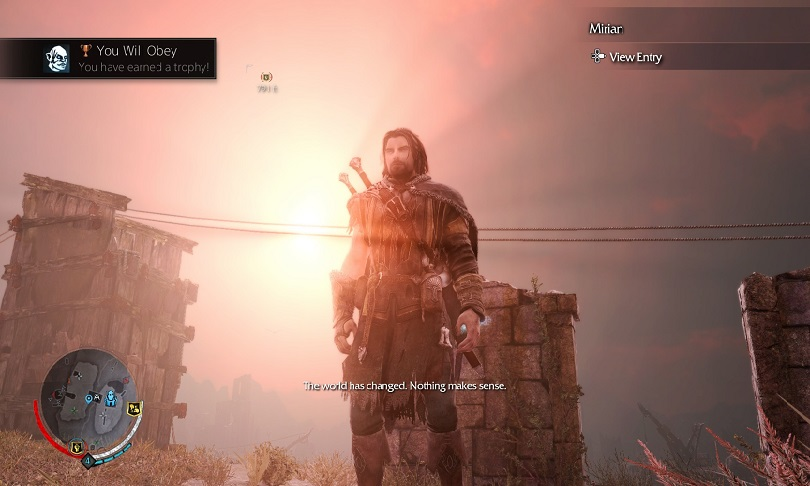 middle-earth shadow of mordor sunset red sky