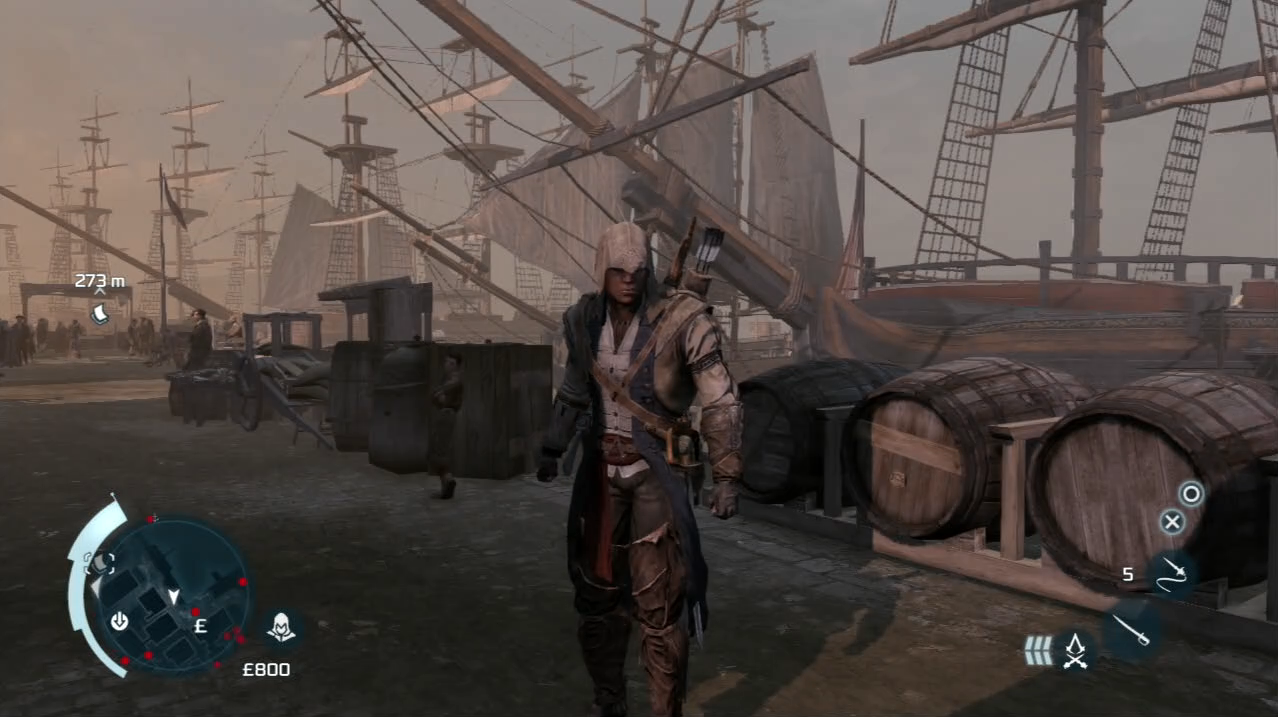 Assassin's Creed III AC3 PlayStation 3 PS3 Connor gameplay ship