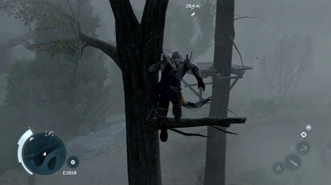 Assassin's Creed III AC3 PlayStation 3 PS3 gameplay free-running