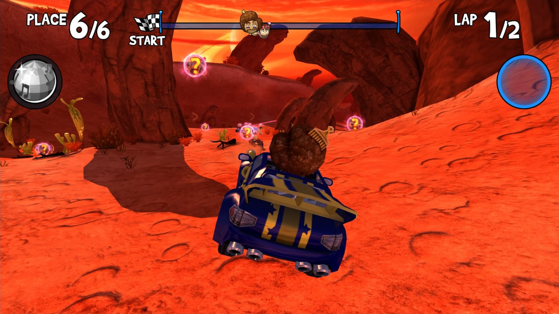 Beach Buggy Racing PS4 Red Planet disco gameplay