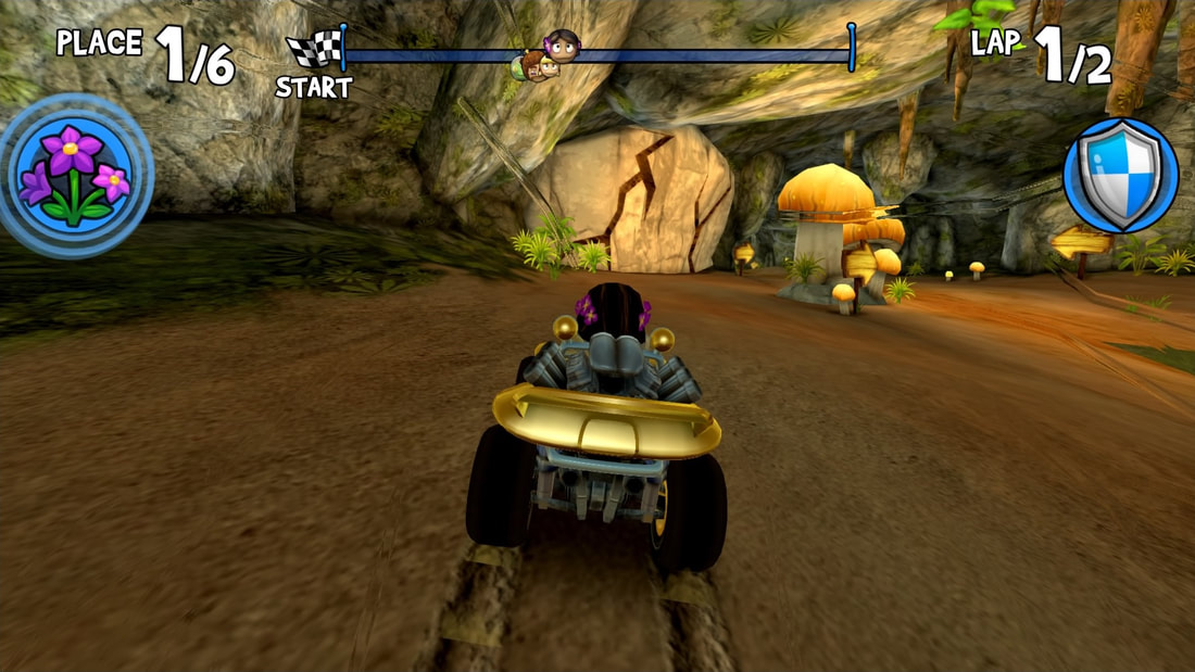 Beach Buggy Racing PS4 mushroom grotto shortcut