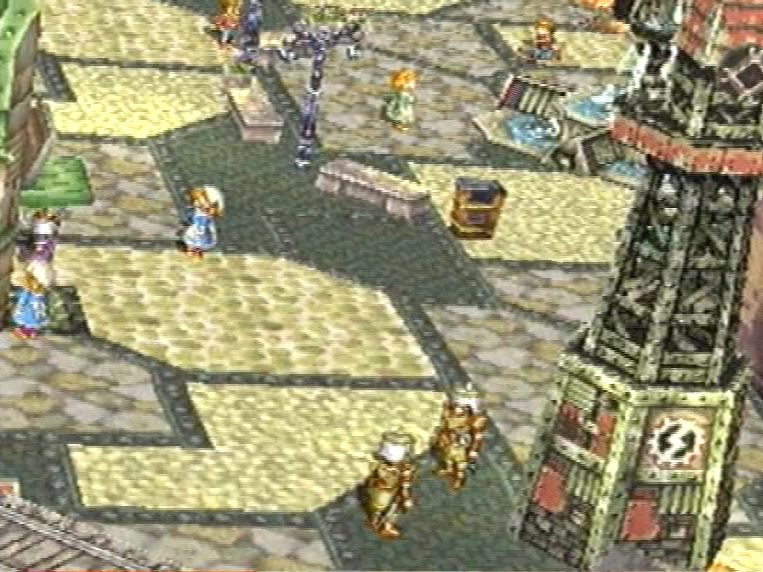 Grandia PS PlayStation town guards and villagers
