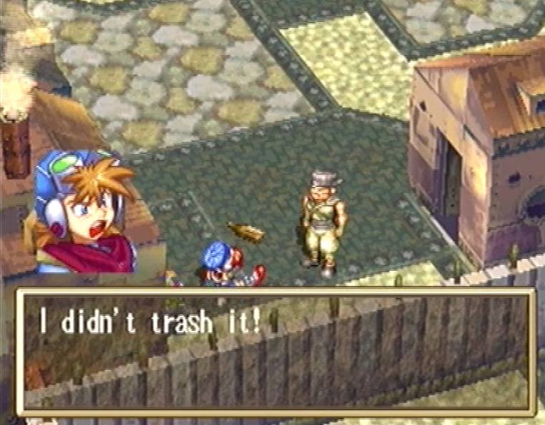 Grandia PlayStation PS Justin didn't trash it