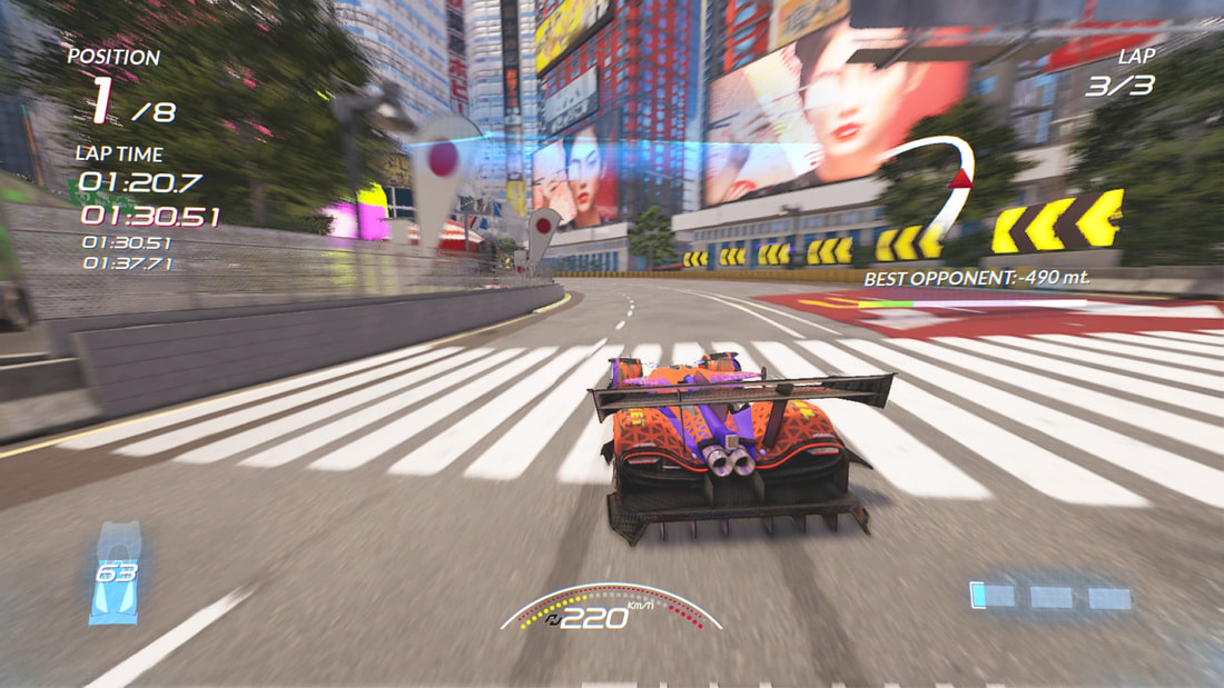 Xenon Racer PlayStation 4 PS4 gameplay Tokyo billboards