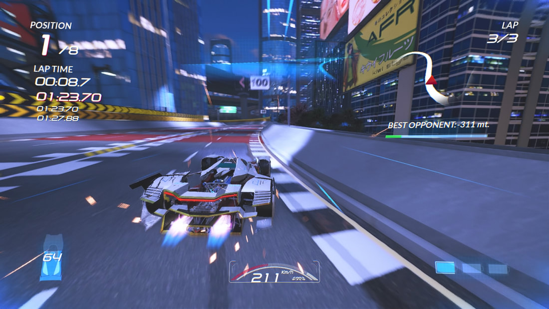 Xenon Racer PlayStation 4 PS4 gameplay boost