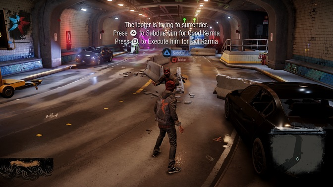 infamous second son ps4 playstation 4 tunnel crash