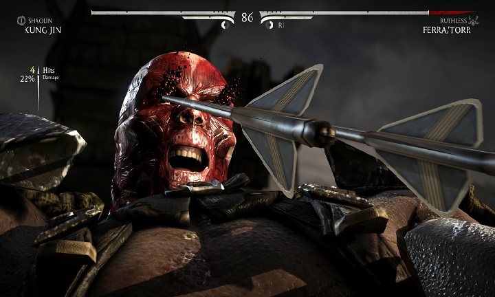 Mortal Kombat X arrow eye pain