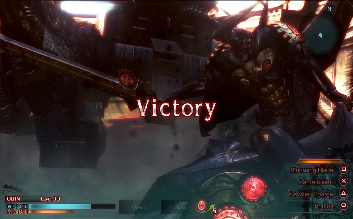 Final Fantasy Type 0 PS4 victory screen