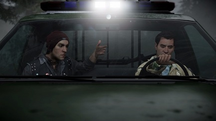 infamous second son ps4 playstation 4 delsin brother police car