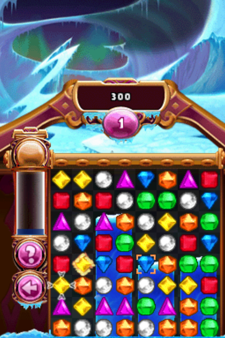 Bejeweled 3 Nintendo DS gameplay ice storm