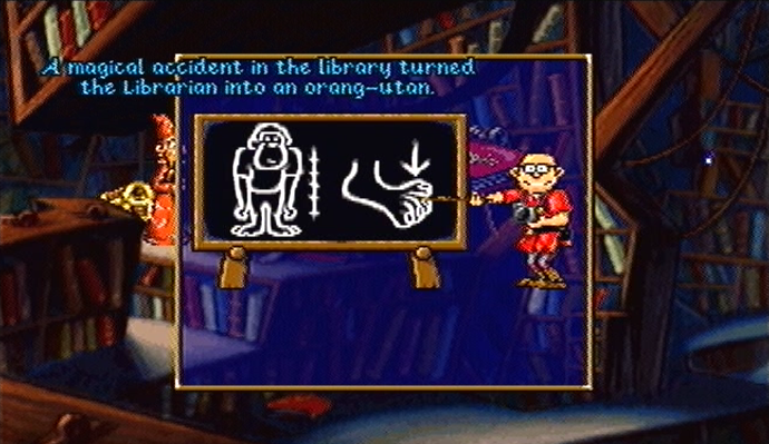 Discworld PlayStation PSone A magical accident turned Librarian into orangutan
