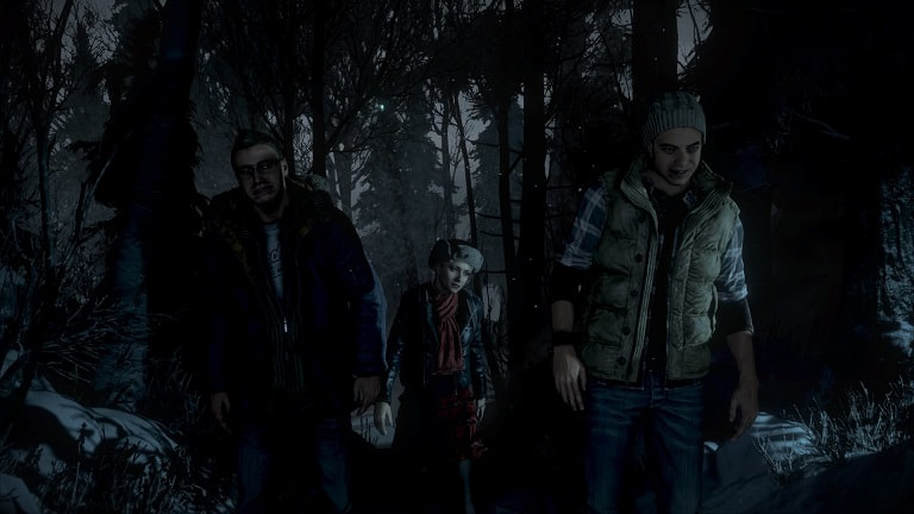 Until Dawn PS4 Sam, Chris and Josh out for a walk