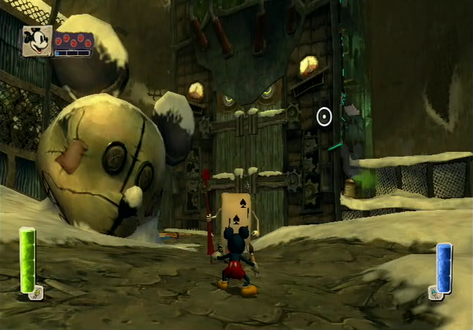 Epic Mickey Nintendo Wii gameplay Oswald's guards