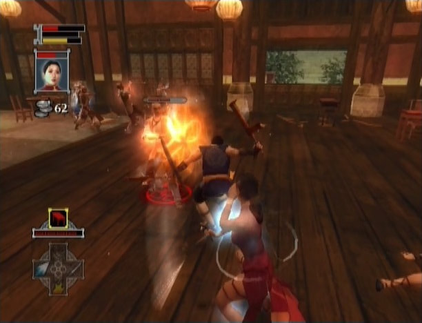 Jade Empire Xbox gameplay combat indoors