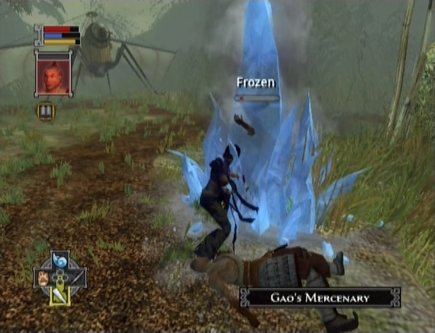 Jade Empire Xbox gameplay combat frozen status