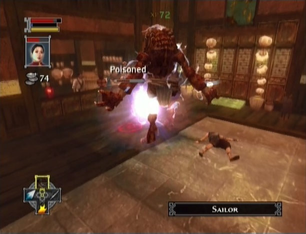 Jade Empire Xbox gameplay poison status