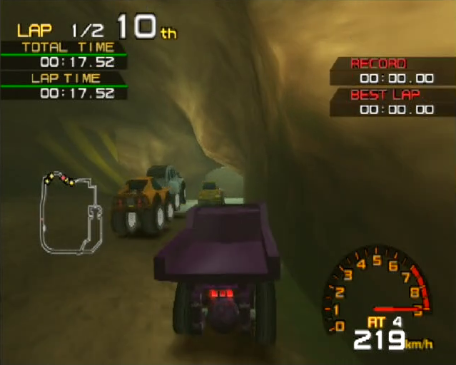 Penny Racers PlayStation 2 PS2 gameplay cave