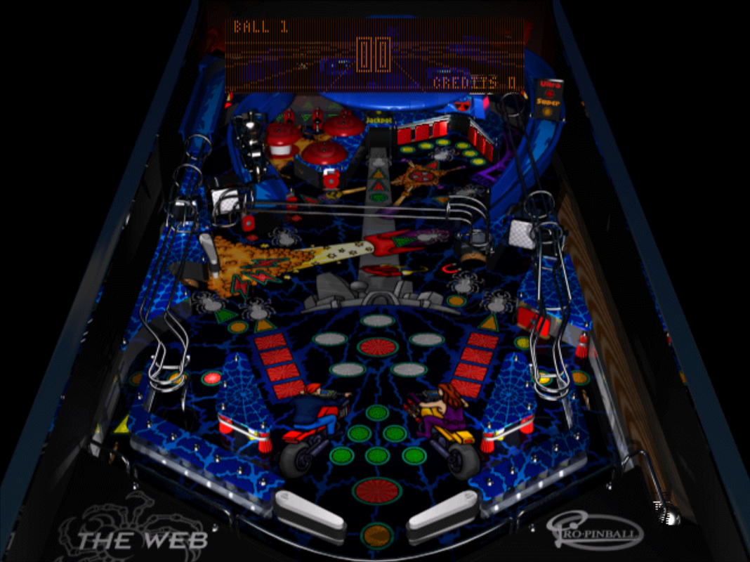 Pro Pinball: The Web PlayStation PSone table
