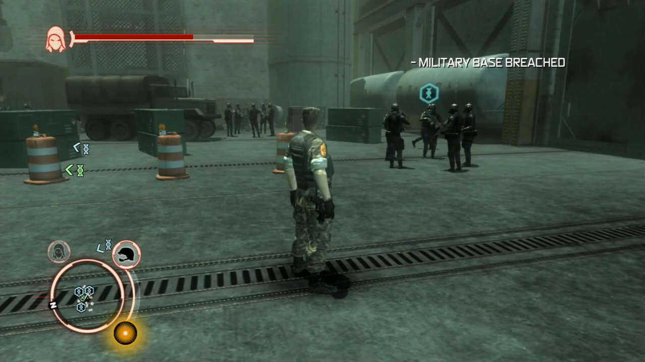 Prototype PlayStation 3 PS3 gameplay military base disguise