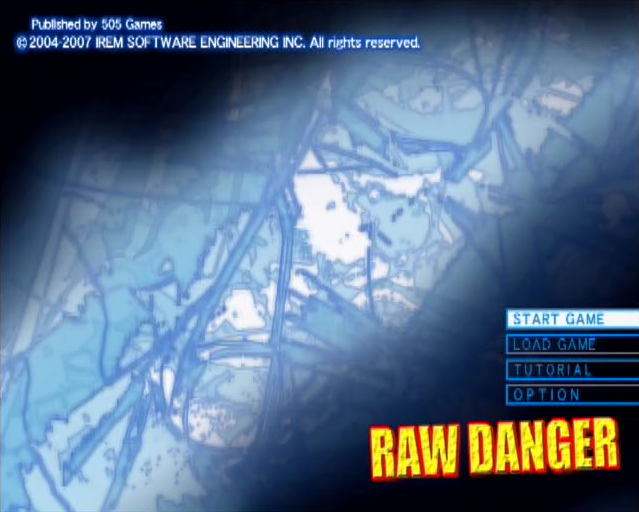 Raw Danger PlayStation 2 PS2 gameplay title screen
