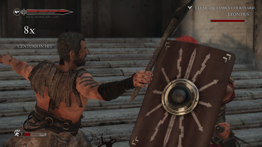 Ryse Son of Rome Xbox One gameplay combat