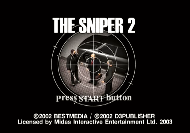 The Sniper 2 PlayStation 2 PS2 title screen