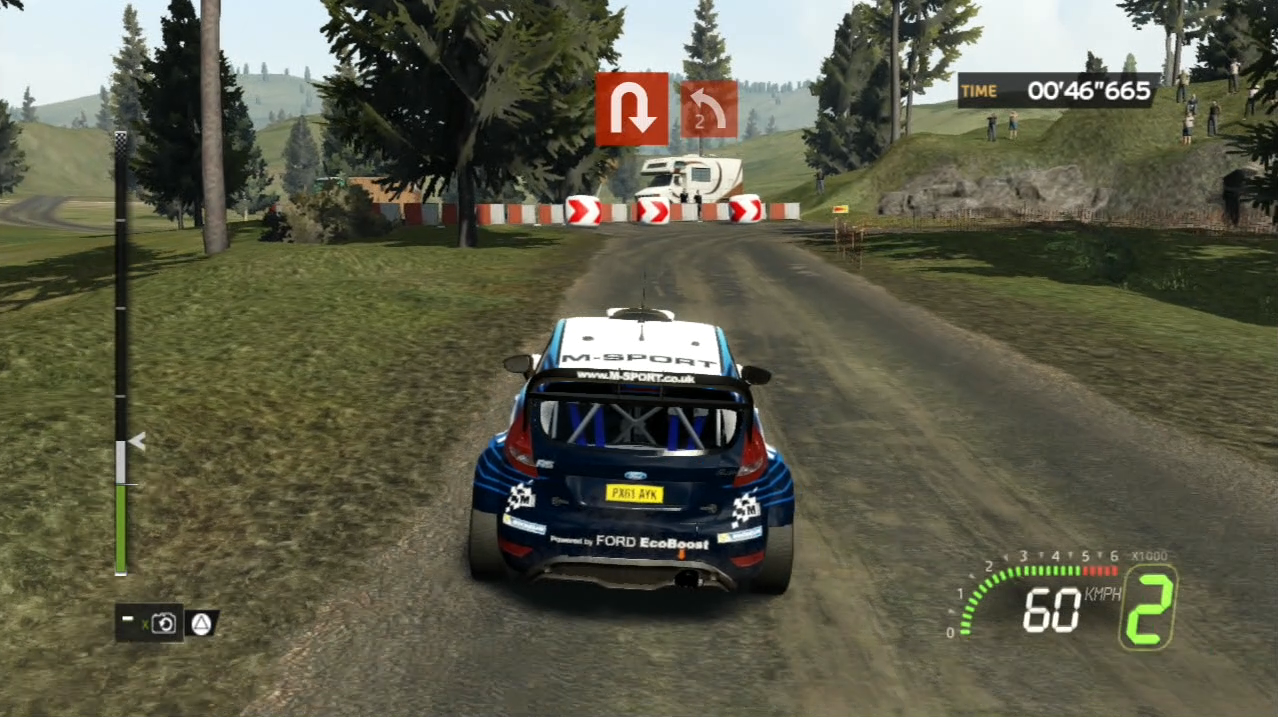 WRC 5 PlayStation 3 PS3 gameplay ford hairpin