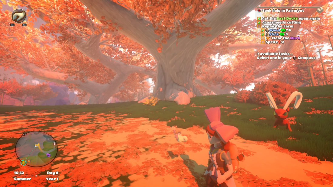 Yonder: The Cloud Catcher Chronicles PS4 autumn trees, bambex